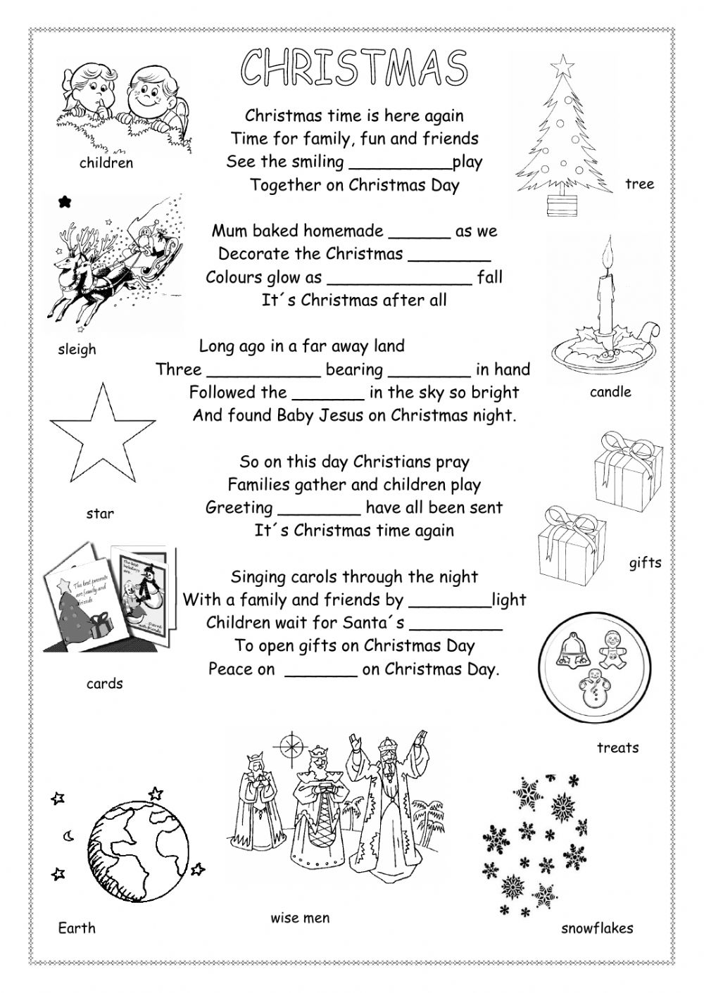 - Christmas Poem - Interactive Worksheet