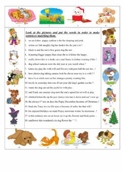 Word order worksheet preview