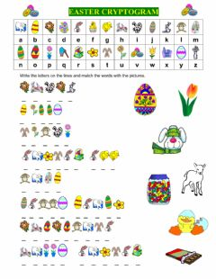 EASTER CRYPTOGRAM worksheet preview