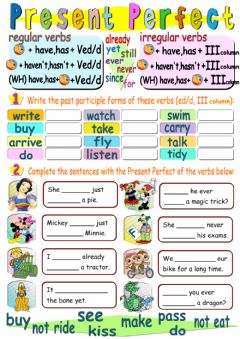 Present perfect worksheet preview
