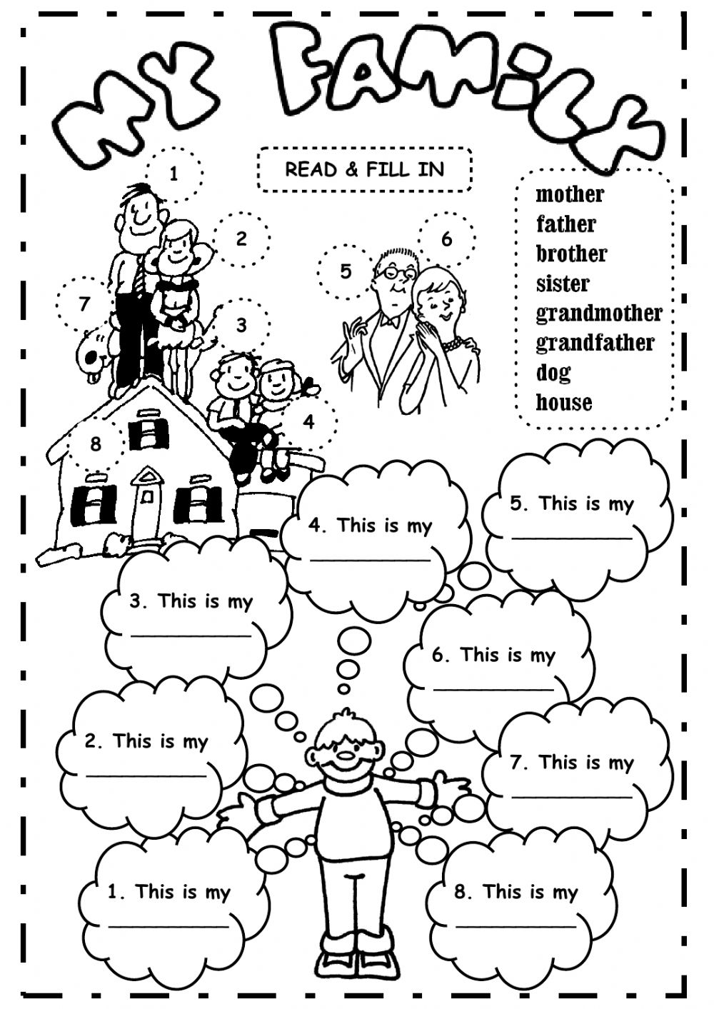 The family Interactive worksheets
