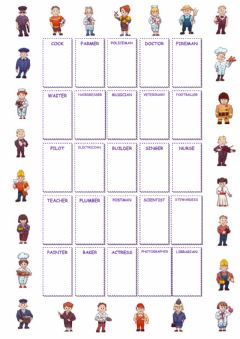 Interactive worksheet Jobs and occupations