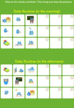Daily Routines worksheet preview