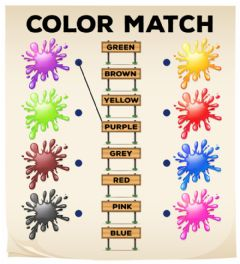 Interactive worksheet Color Match