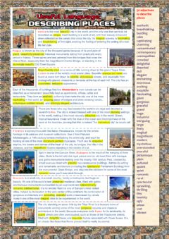 Useful language: Describing Places worksheet preview