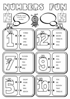 Ficha interactiva Numbers fun (1-12)