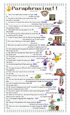 Interactive worksheet Paraphrasing