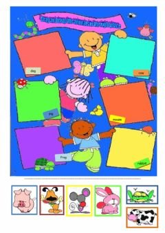 Interactive worksheet Animals drag and drop activity