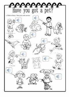 Have you got a pet? worksheet preview