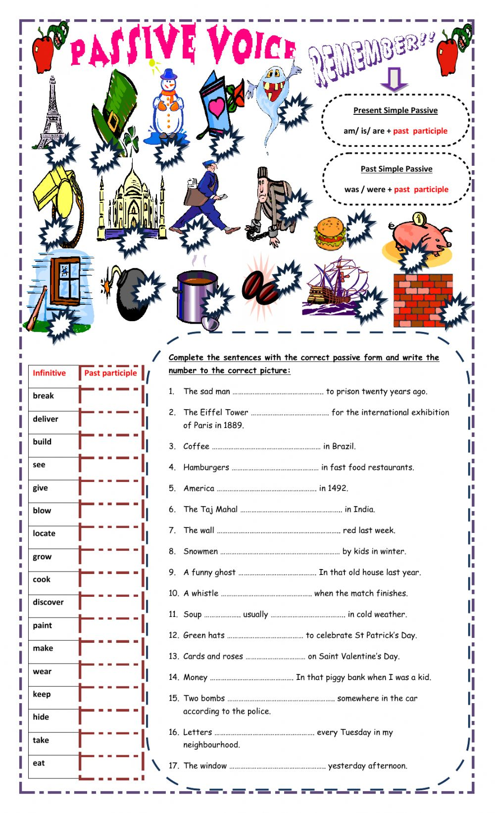Present simple and past simple passive voice interactive worksheet ibookread PDF