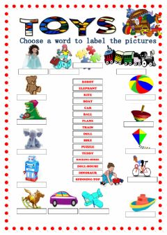 Ficha interactiva Toys Vocabulary