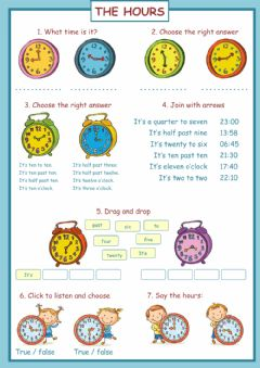 Interactive worksheet The hours