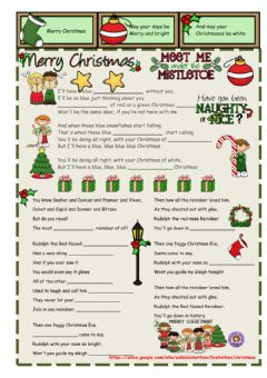Christmas Carols worksheet preview