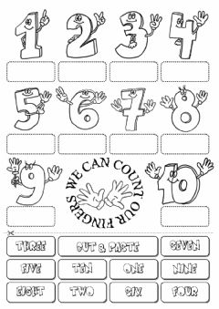 Count the fingers worksheet preview