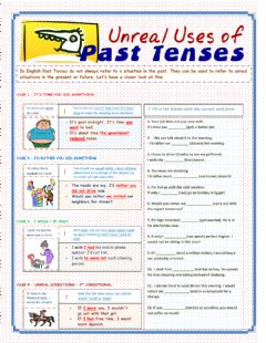 Interactive worksheet Unreal Uses of Past Tenses