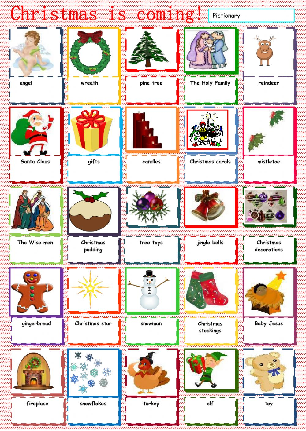 christmas vocabulary interactive worksheet. Black Bedroom Furniture Sets. Home Design Ideas