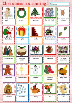 Christmas Vocabulary worksheet preview