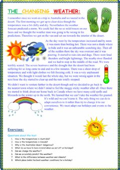 Interactive worksheet The changing weather