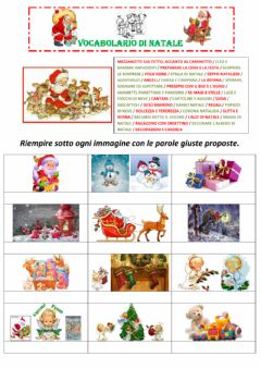 Interactive worksheet VOCABOLARIO DI NATALE