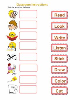 Classroom Instructions worksheet preview