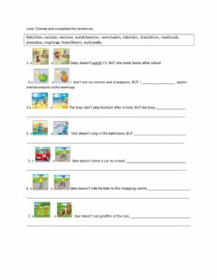 Interactive worksheet Movers Present Simple with BUT