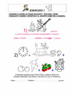 Interactive worksheet Verbi e gruppi