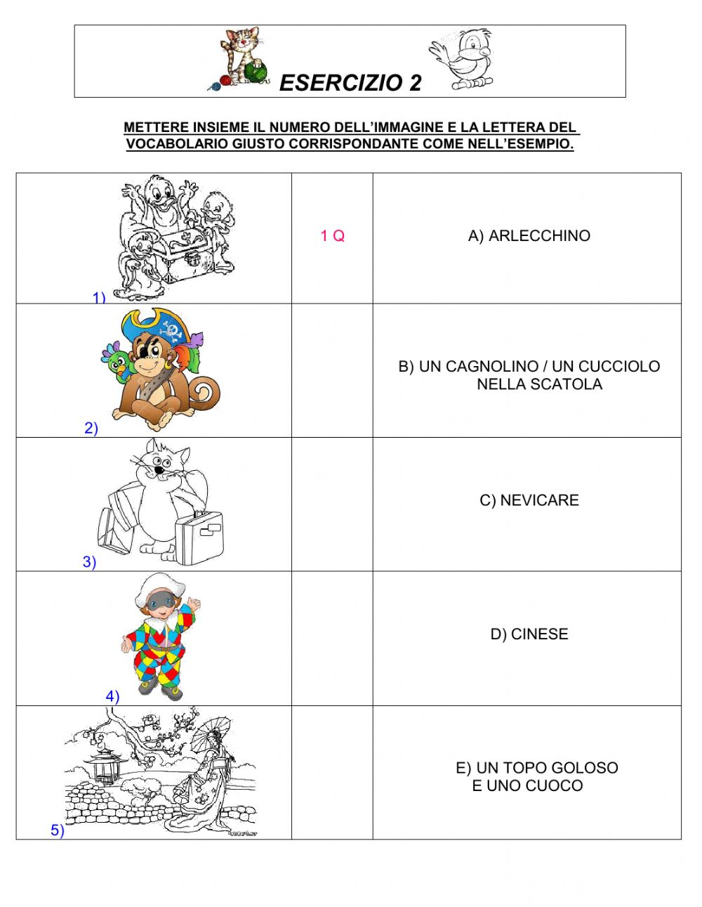 Free Worksheet Italian Language Worksheets italian interactive worksheets worksheet vocabolario generale