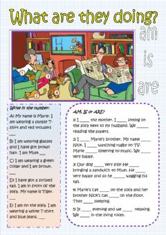 To be verb - Am - Are - Is - Appearance worksheet preview