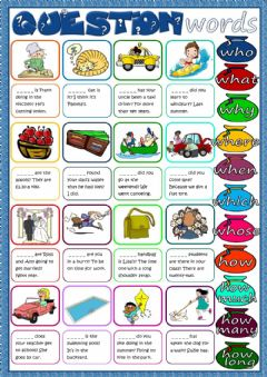 Ficha interactiva Question words