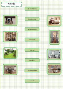 Interactive worksheet das Haus