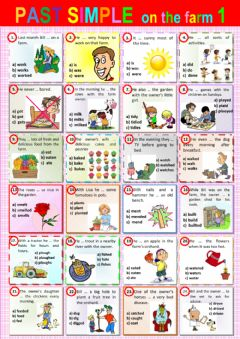 Interactive worksheet past simple on the farm 1