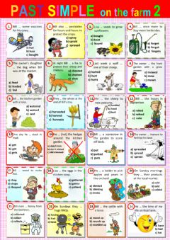 Interactive worksheet Past Simple on the farm 2