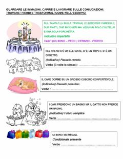 Interactive worksheet coniugazioni