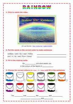Interactive worksheet Rainbow