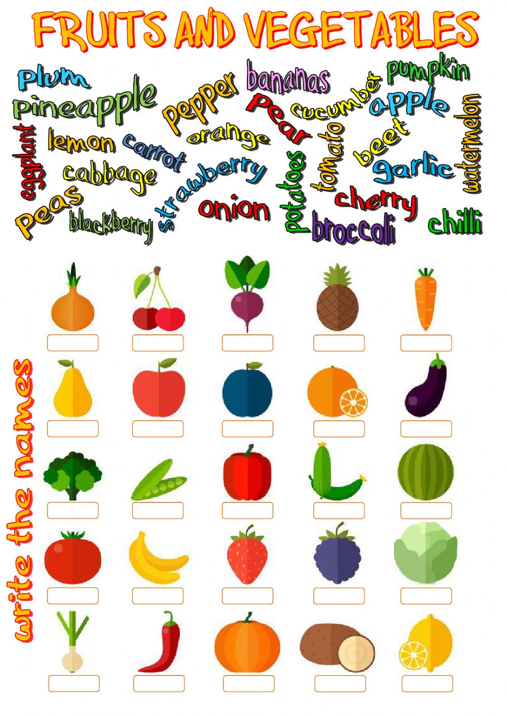 Worksheets Worksheet-about-fruits fruits and vegetables interactive worksheet text