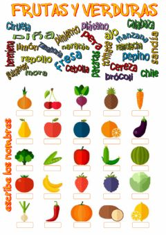 Interactive worksheet Frutas y verduras