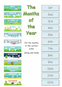 The months of the year worksheet preview