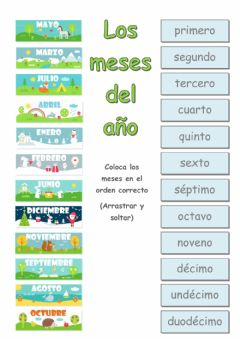 Interactive worksheet Los meses del año