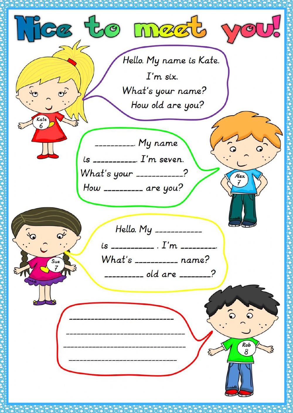 Nice to meet you - Interactive worksheet