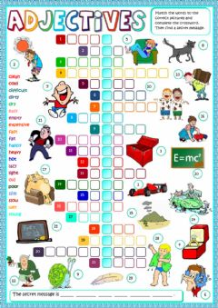 Ficha interactiva Adjectives - crosswords