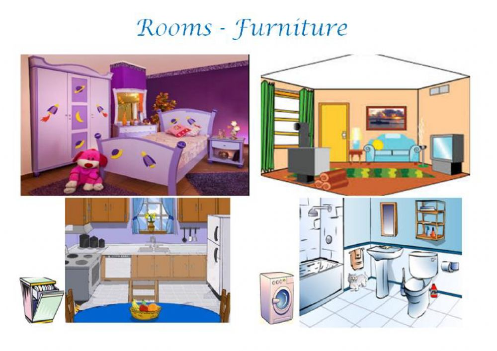 Rooms Furniture Interactive Worksheet