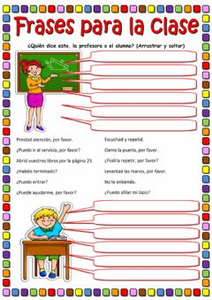 Interactive worksheet Frases para la clase