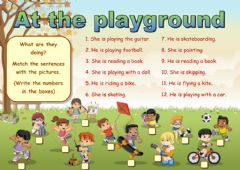 At the playground worksheet preview