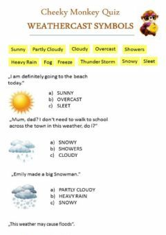 Interactive worksheet WEATHERCAST SYMBOLS