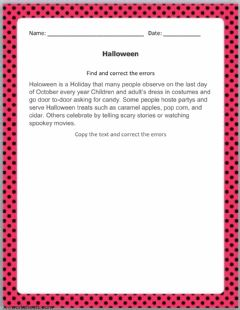 Interactive worksheet Correct Text Exercises - 3