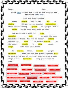 Interactive worksheet Swan Song - 1A