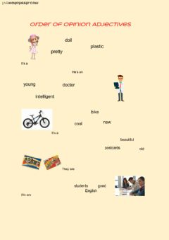 Interactive worksheet Order of opinion adjectives