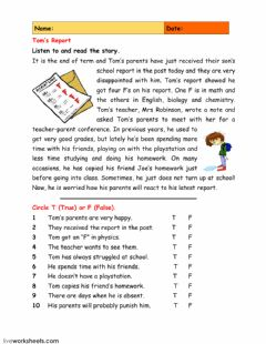 Interactive worksheet Reading comprehension 1