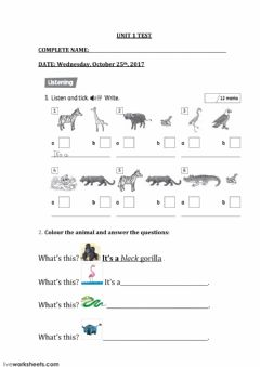 Interactive worksheet Exman unit 1 TERCERO