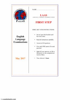 Interactive worksheet LAAS FIRST STEP MAY 2017